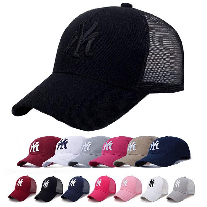 2019 NY Baseball Cap Summer Mesh Hats Black Adult Unisex Casual Baseball  Caps Adjustable Cap Snapback Caps Outdoors Breathable Hats From Hlq1027 4867b85388