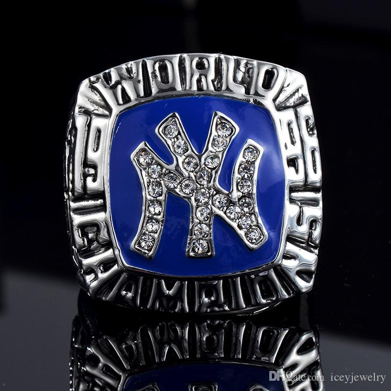1996 high quality NY yankees Baseball Team Silver Plating championship ring commemorative Gold championship necklace set