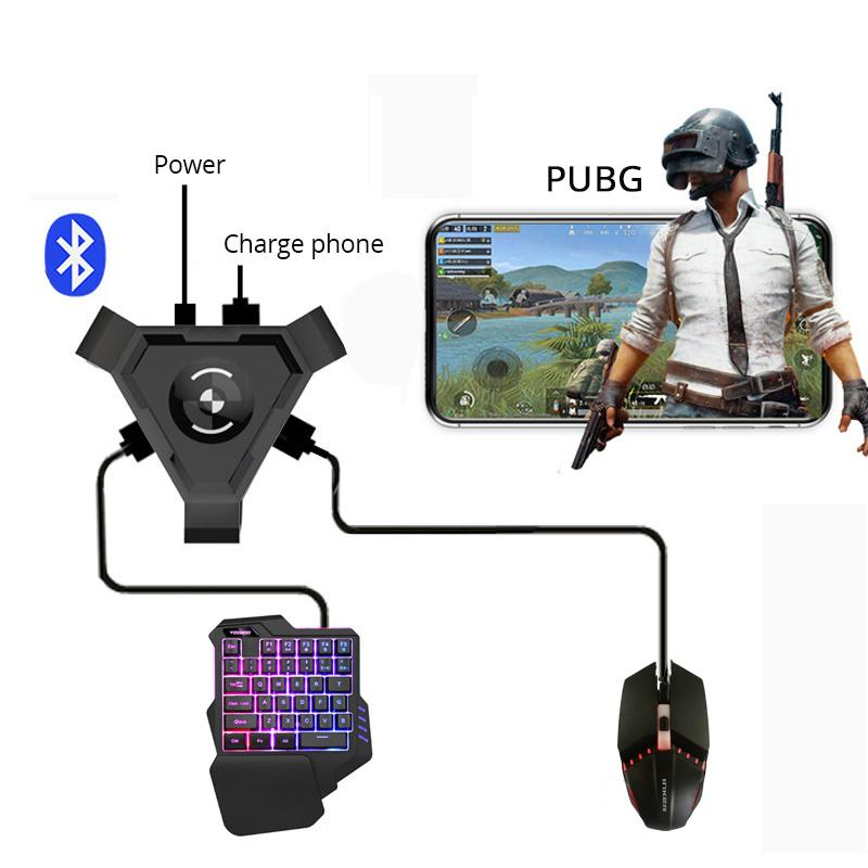 New PUBG Mobile Gamepad Controller Gaming Keyboard Mouse Converter For Android Phone to PC Bluetooth 4.1 Adapter Free Gift