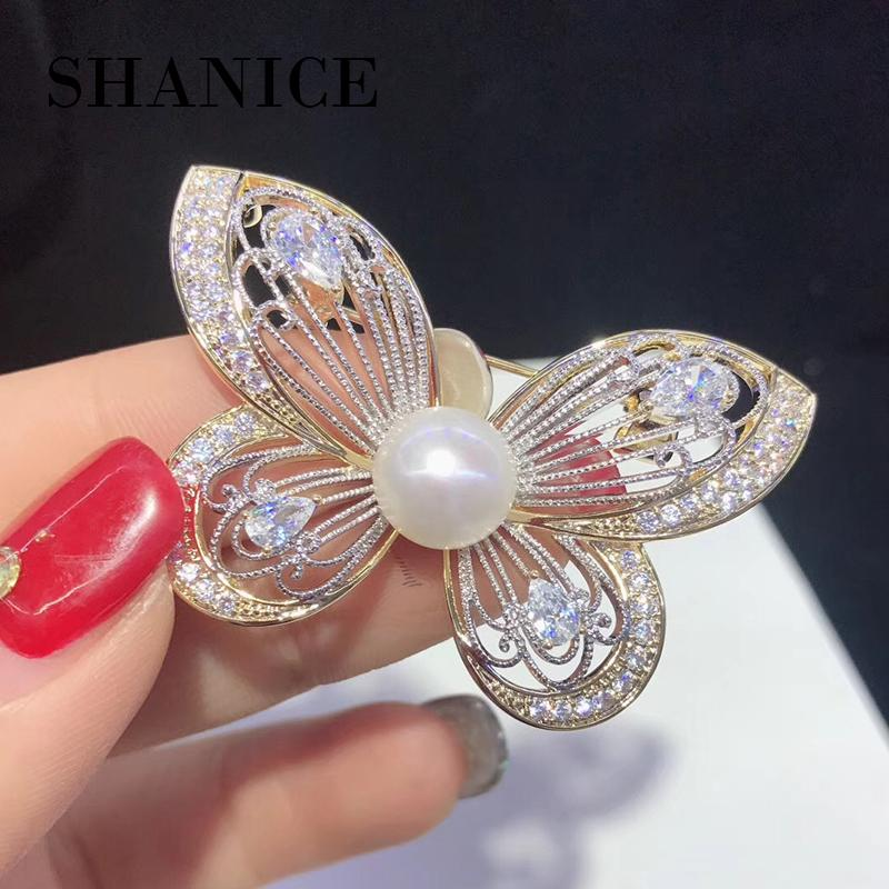 16157df93 SHANICE High Quality CZ Zircon Hollow Flower Brooch Corsage Coroa Poster Broches  Wedding Collar Hijab Pin Up Clip Scarf Bijoux Online with $36.72/Piece on  ...