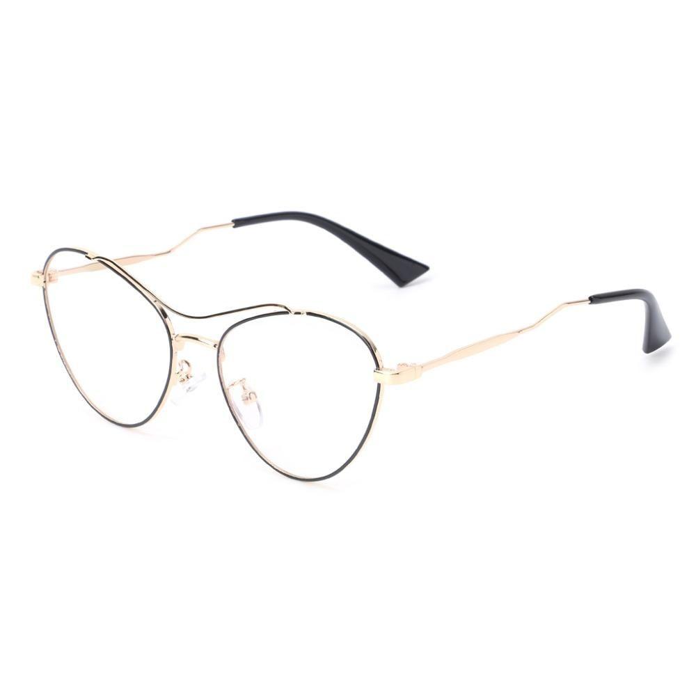 b7e0119b37eb 2018 New 2018 Optical Glasses Eyeglasses Cat Eye Metal Frame Clear ...