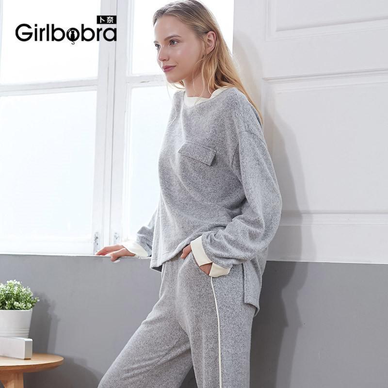 new concept 62e9d e571d Neuer Baumwollpyjama, zweiteilig, warmer Damenpyjama im europäischen und  amerikanischen Stil.