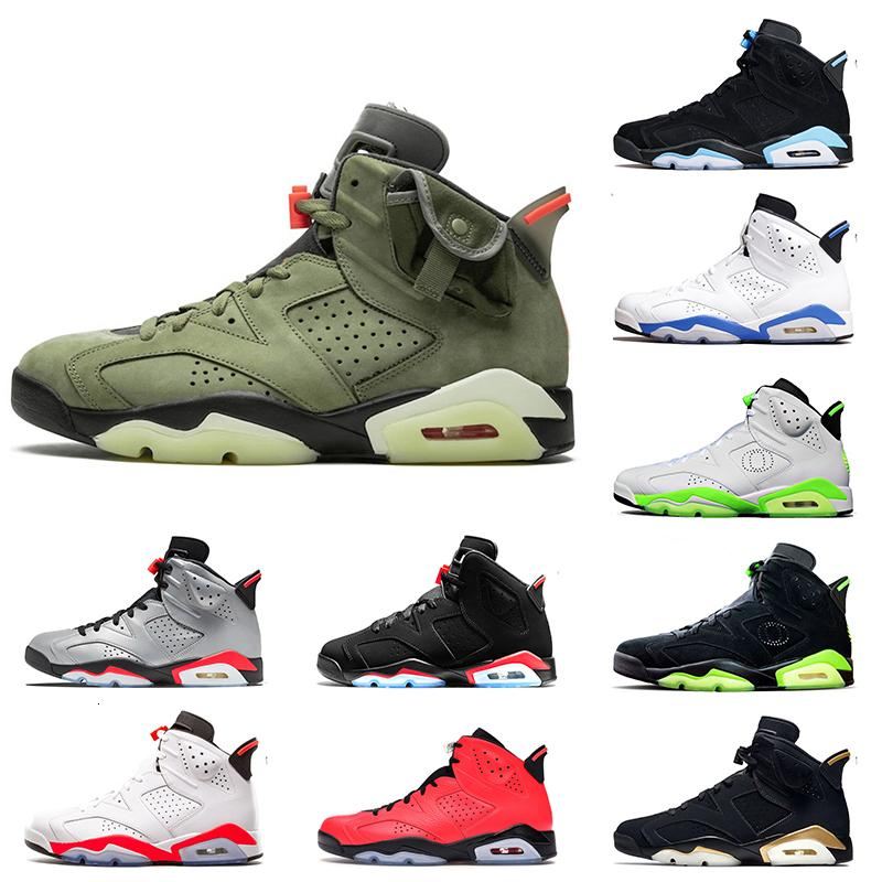 Top Quality Travis Scott 6 Basketball Shoes 3M Reflective Infrared 6s Oregon Ducks PE DMP Sport Blue UNC Designer Trainers Sneakers 7-13