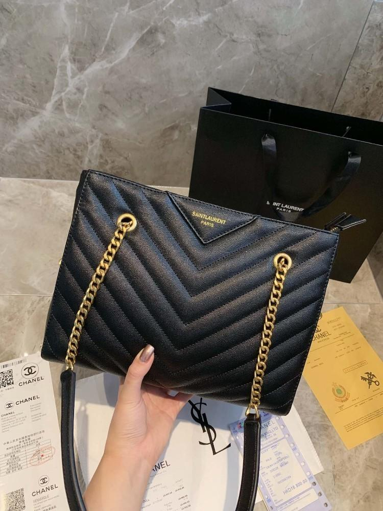 Designer bag fashion classic one shoulder bag new lady luxury bag top quality simple V pattern Size 29*21