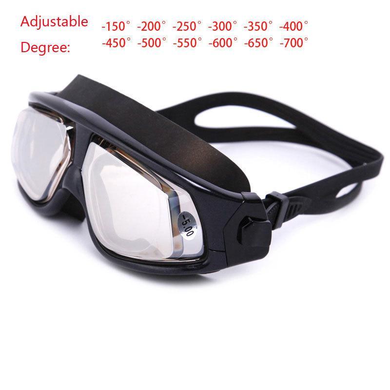 93d156ecb Compre Homens Mulheres Natação Anti Lente De Nevoeiro UV Proteção Miopia  Óculos De Natação À Prova D  Água Grande Quadro Miopia Óculos Óculos 150  700 Graus ...
