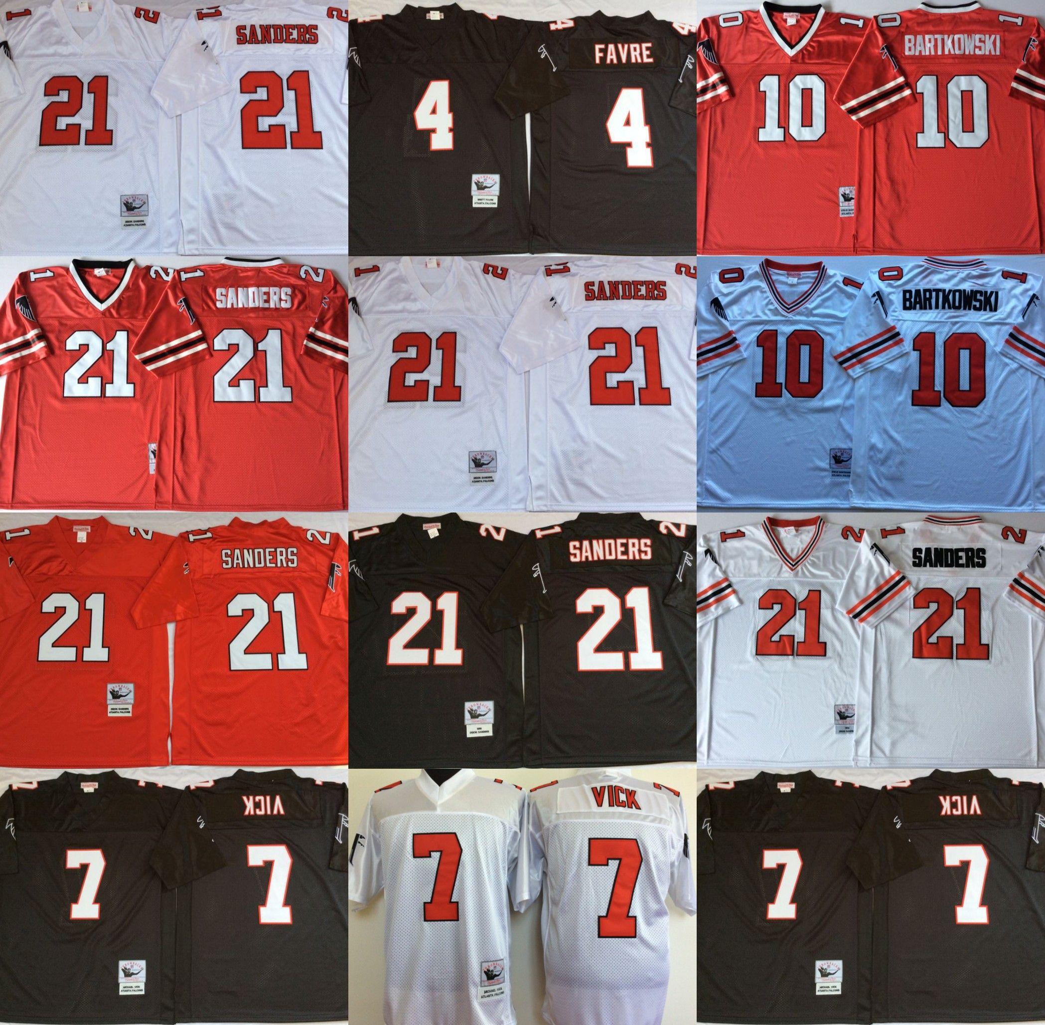 2019 Atlanta Jersey Falcons 4 Brett Favre #7 Michael Vick #10 Steve