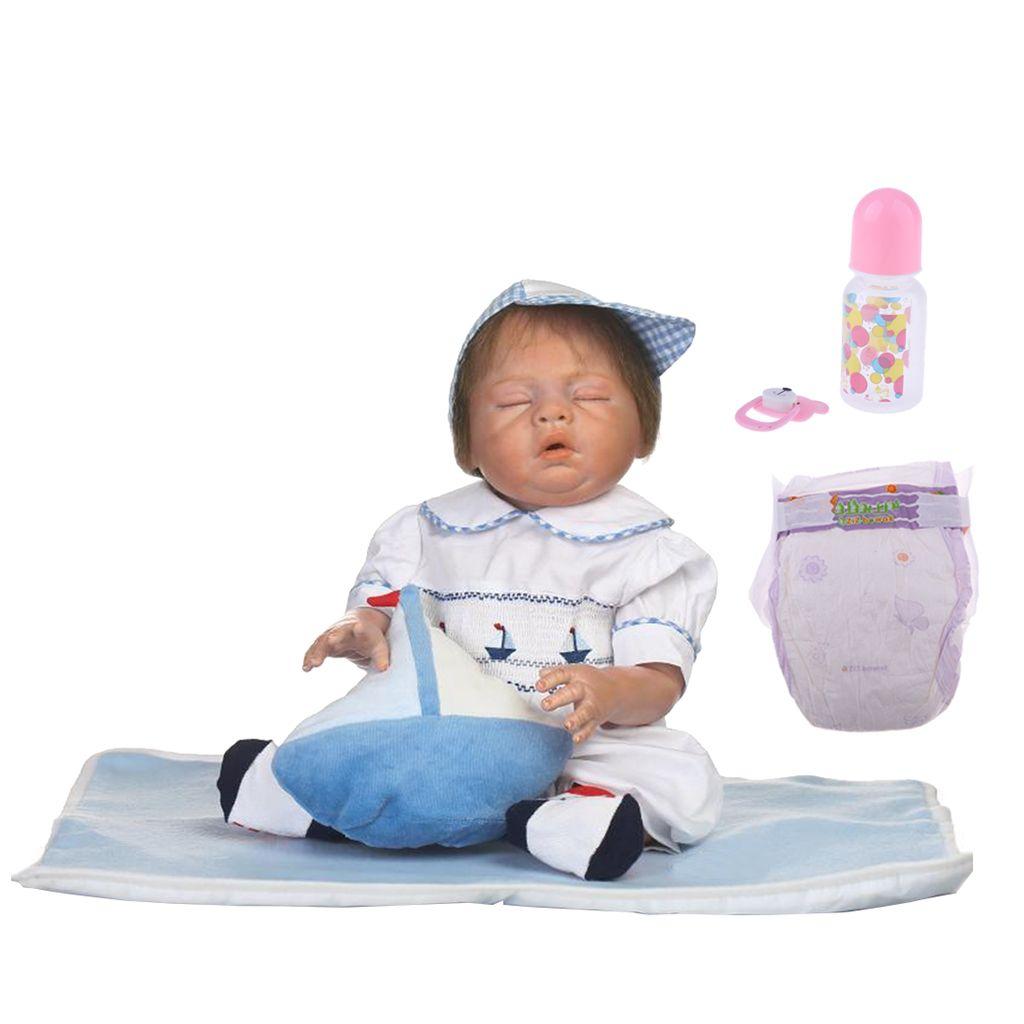 20110d57869d 20inch Full Body Soft Silicone Vinyl Girls Doll Reborn Newborn Baby ...