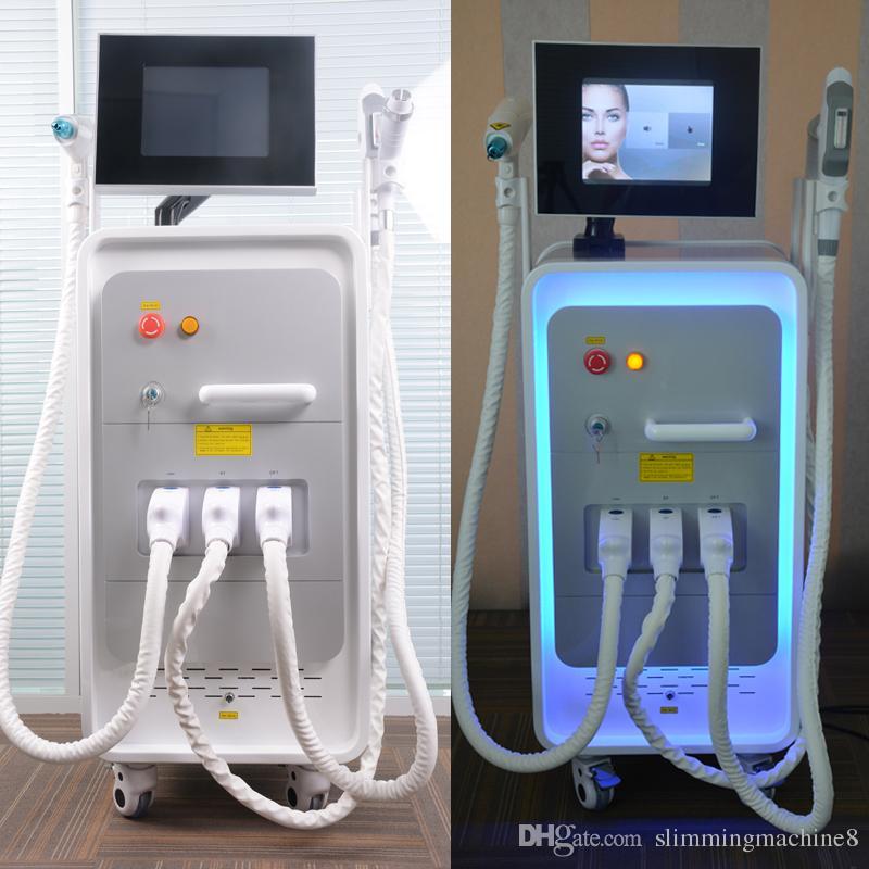 Top quality 4 in 1 Multifunction laser hair removal machine E-light diode laser hair removal RF Skin Rejuvenation 300000 shots nd yag laser