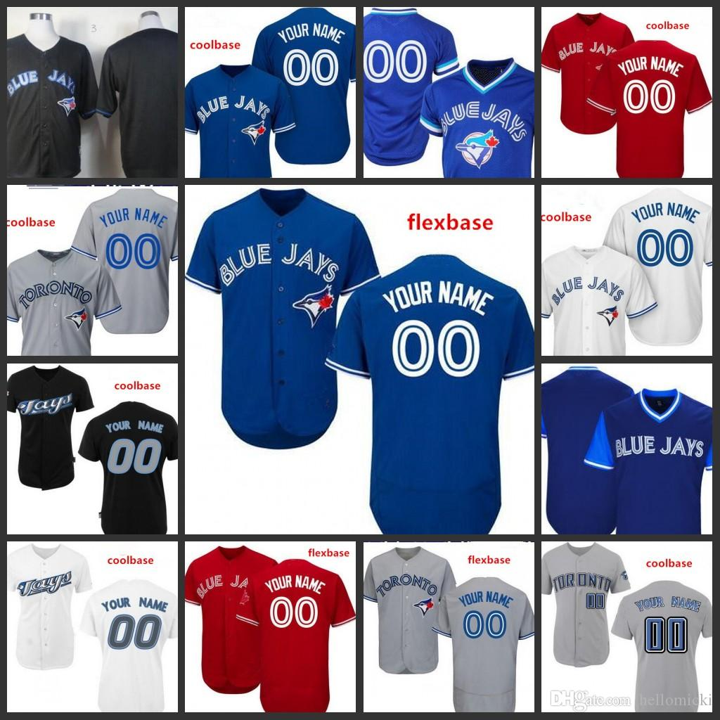 sneakers for cheap 2f8db 42f6e Custom 2019 Blue Jays Stitched Jersey Mens 29 Joe Carter 19 Jose Bautista  Toronto 20 Josh Donaldson All Sewn Embroidered Jerseys