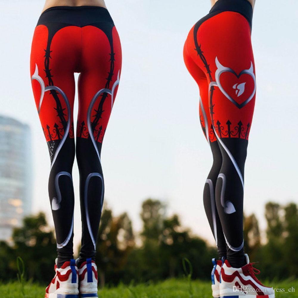 918aa9c2ee Acquista Pantalone Sportivo Elasticizzato Rosso Da Donna Leggings Da  Compressione Fitness Pantalone Da Palestra Running Sportware Yoga Pantalone  Lungo ...