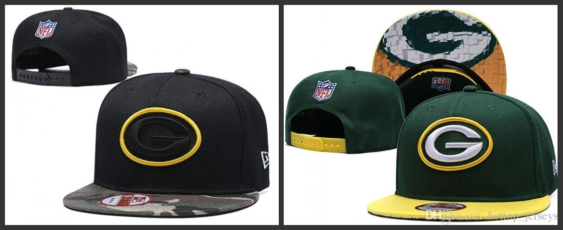 5d674e38 Baseball Cap US Fashion 2019 Green Bay Men Packers Hats Sports Golf Visor  Snapback Hip hop Fitted Cap visor Women Hat