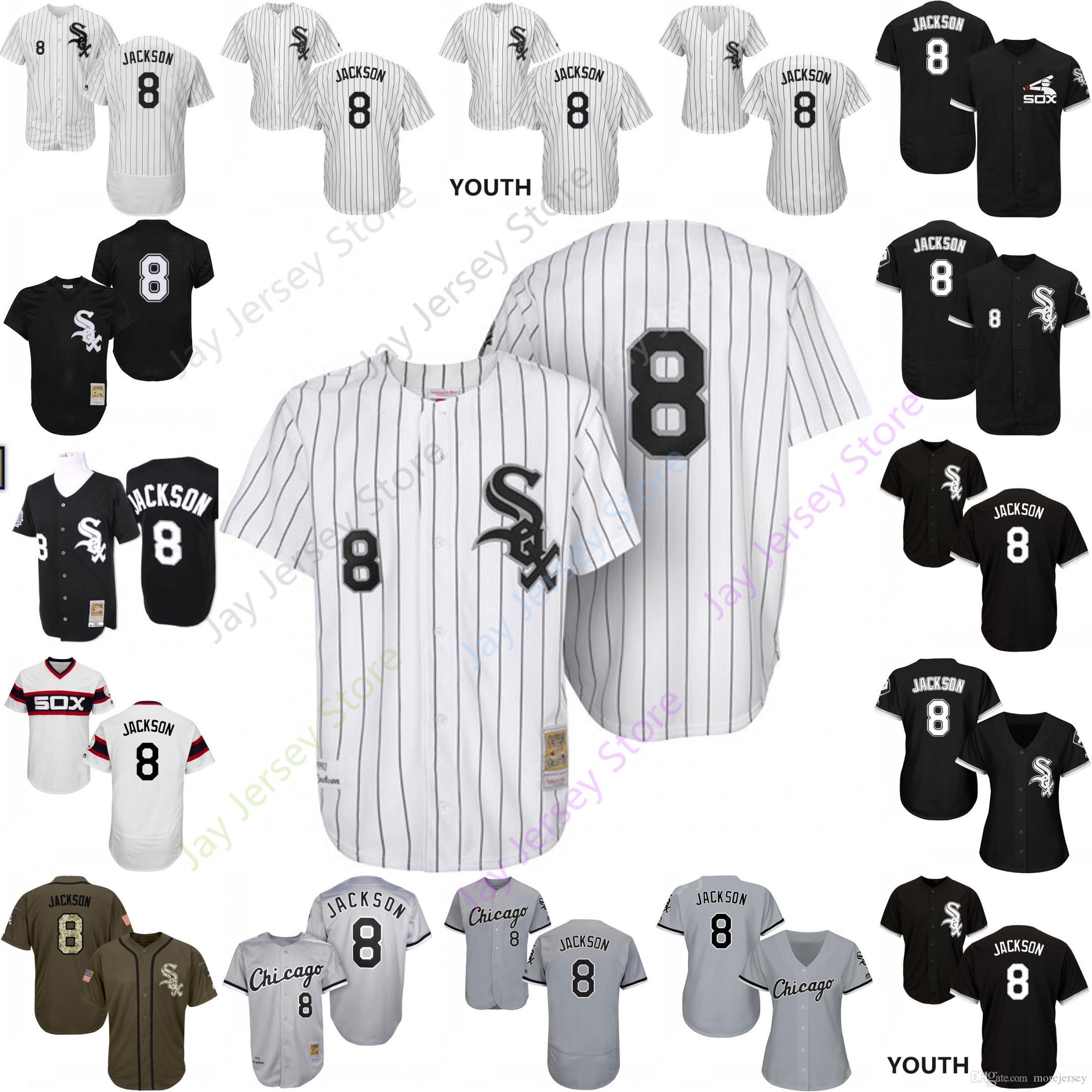21eb9d881 2019 2019 Chicago 8 Bo Jackson Jersey White Sox Jerseys Cool Base ...