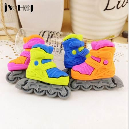2 pcs/lot lovely Roller skates modelling eraser Kawaii stationery school office correction supplies child's toy gifts