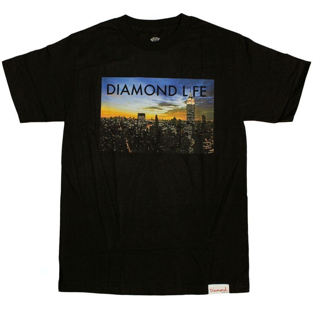 Diamond Supply Co Diamond Life NY T Shirt Black T Shirts Print Tees Online  From Jie039 0d1505d79