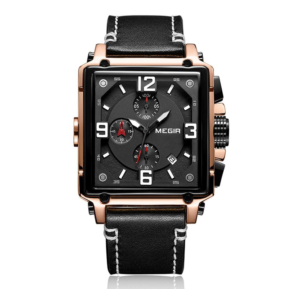 Compre AAA Marca De Luxo Mens Relógios Estilo Clássico Quadrado Relógio De  Pulso Multi Função Cronógrafo De Couro À Prova D  Água De Quartzo Mens  Relógios ... afe9713ff5
