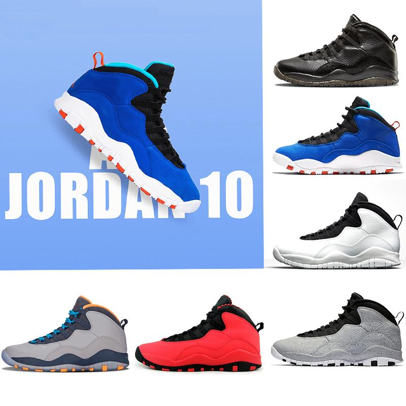 Jumpan Basketball Shoes For Mens 10s Tinker Westbrook Red Blue Cement 10 Im Back Powder Blue Cool Grey Steel Sneakers Free Shipping US8-13