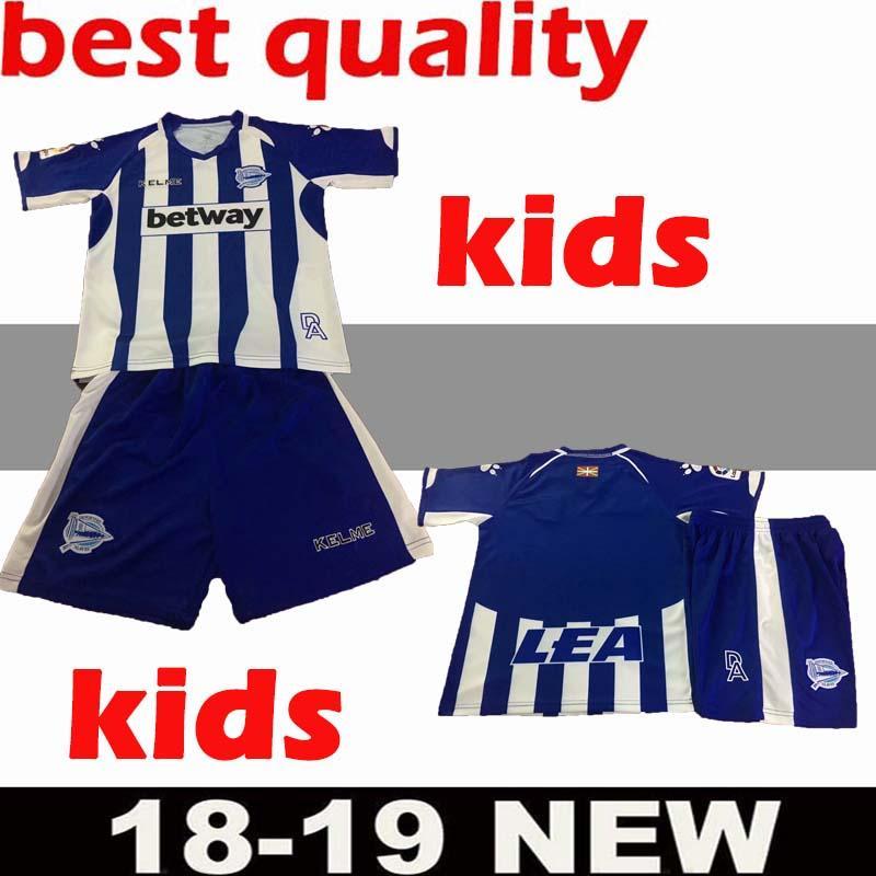 c1ca6f804 Kids Kit 2018 Deportivo Alavés Soccer Jerseys 18 19 Home Away Third Alaves  IBAI BURGUI SOBRINO LAGUARDIA Munir Guedetti Boy Football Shirt Alaves  Soccer ...