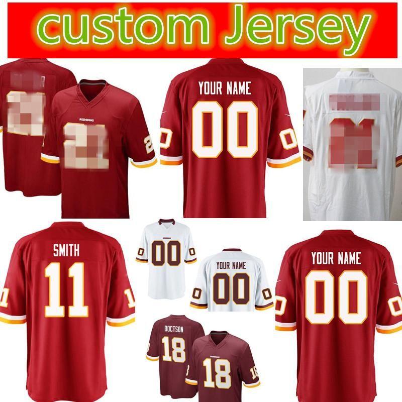 best cheap 958da a37c6 Washington Redskins Custom #26 Adrian Peterson Football Jerseys Men 18 Josh  Doctson 91 Ryan Kerrigan 24 Josh Norman stitched Jerseys