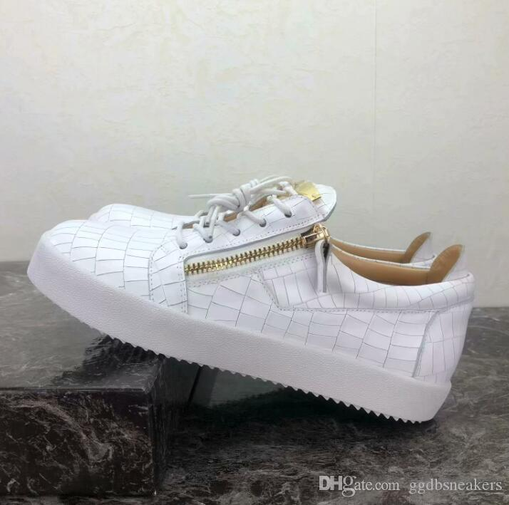 2cad72f6f4 2018 Hot Sale Women s Men s Casual Shoes Luxury Zipper Sports Casual ...