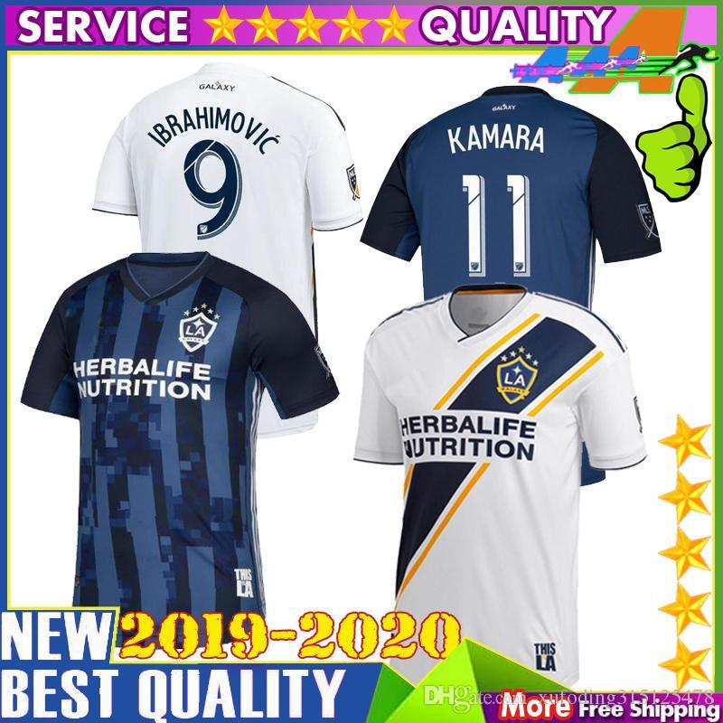 7b5a84f4a0466 Nueva Camiseta 2019 LA Galaxy Soccer 19 20 9 IBRAHIMOVIC Los Angeles De  Distancia Camisa KEANE GIOVANI ZARDES J.DOS SANTOS Camisetas De Fútbol Por  ...