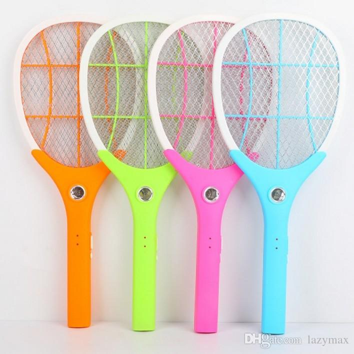 LED Electric Mosquito Swatter 4 Colors Rechargeable Insect Hand Racket  Killer Home Garden Pest Bug Zapper Swatter Killer 2 Pieces ePacket