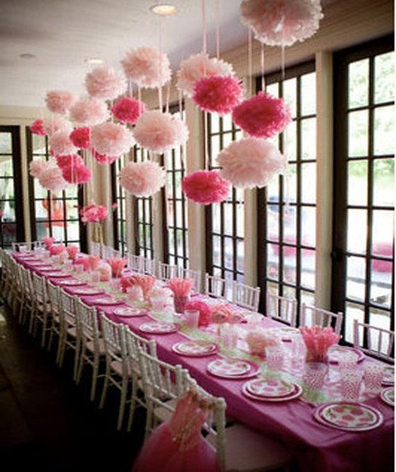 2pcs Cute Decoration 15cm 6 Inch Tissue Paper Flowers Paper Party Decor Wedding