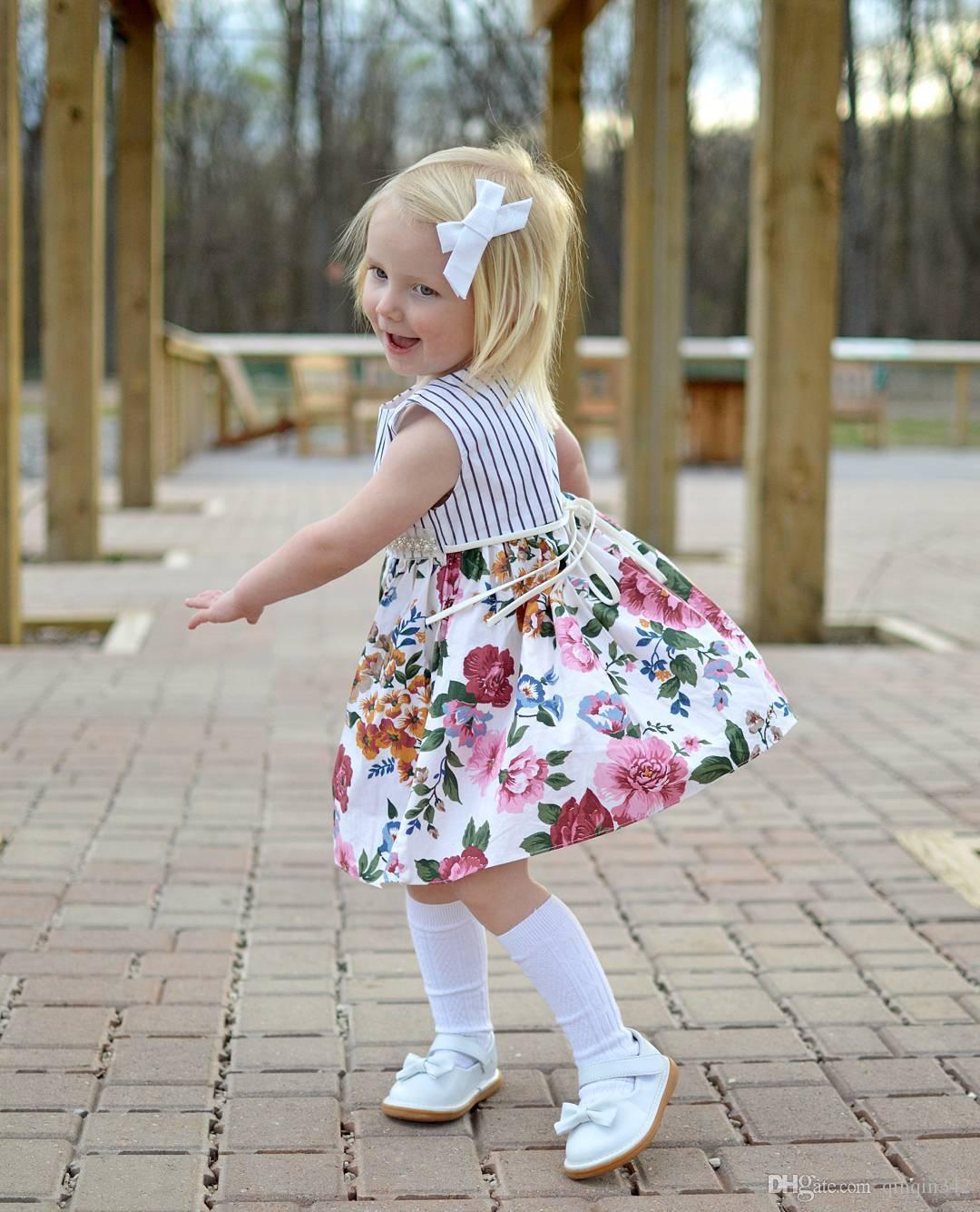 be4c951db 2019 2019 Baby Kids Designer Clothes Girls New Summer Dress Girl Big Flower  Dress Summer Children Sundress From Qinqin342, $0.11 | DHgate.Com