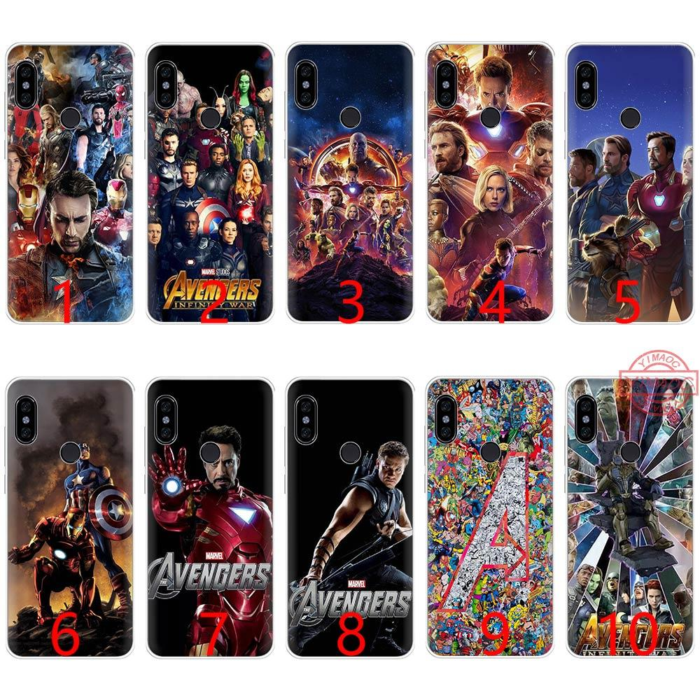 cc8de6fab Avenger Captain America Iron Man Soft Silicone TPU Phone Case For Redmi Note  4 4X 5 6 Pro 6A S2 Cover Customize Cell Phone Case Fashion Cell Phone Cases  ...