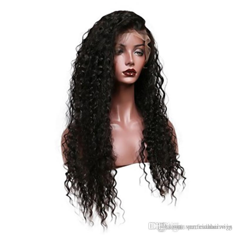 Women Human Hair Lace Wig Brazilian Virgin Hair Lace Front 130 Density With Baby Hair Loose Curly Wig Chestnut Brown Medium Brown Color