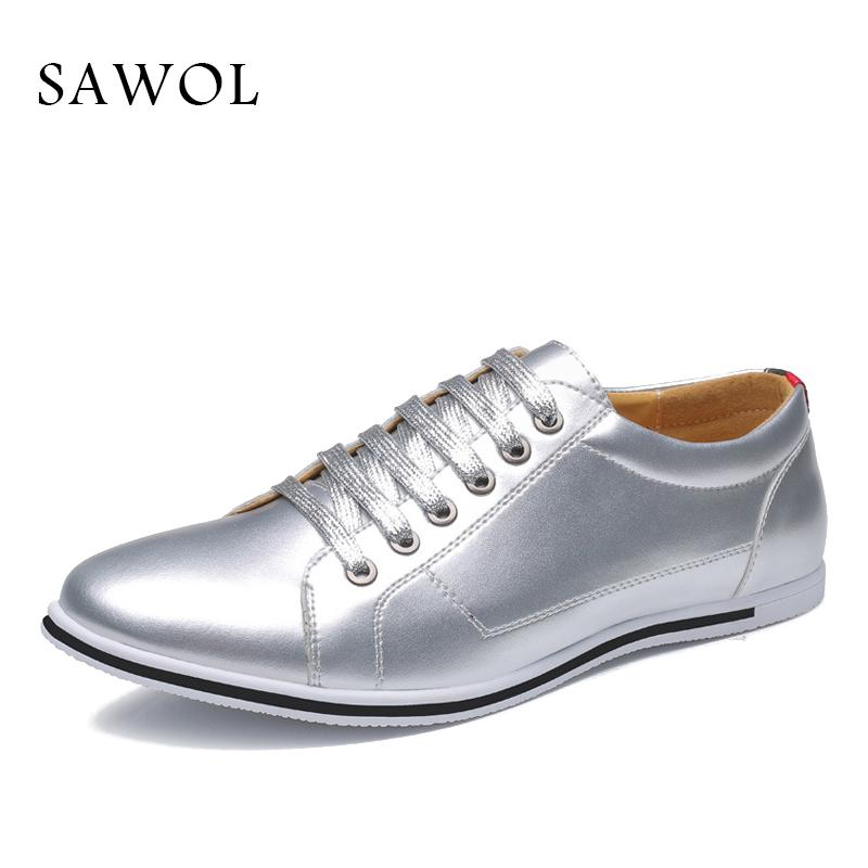 f0eb0a0008 Sawol Men Casual Shoes Brand Men Shoes Sneakers Flats Slip On Plus Big Size  High Quality Genuine Split Leather spring Autumn