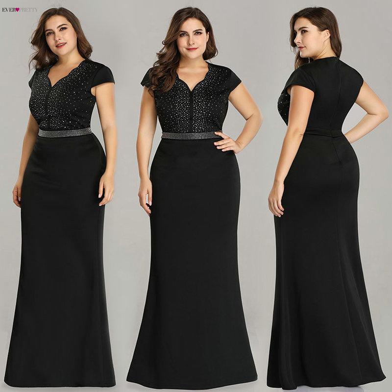 2019 Plus Size Black Evening Gowns Ever Pretty Ez07623 2019 Elegant ...