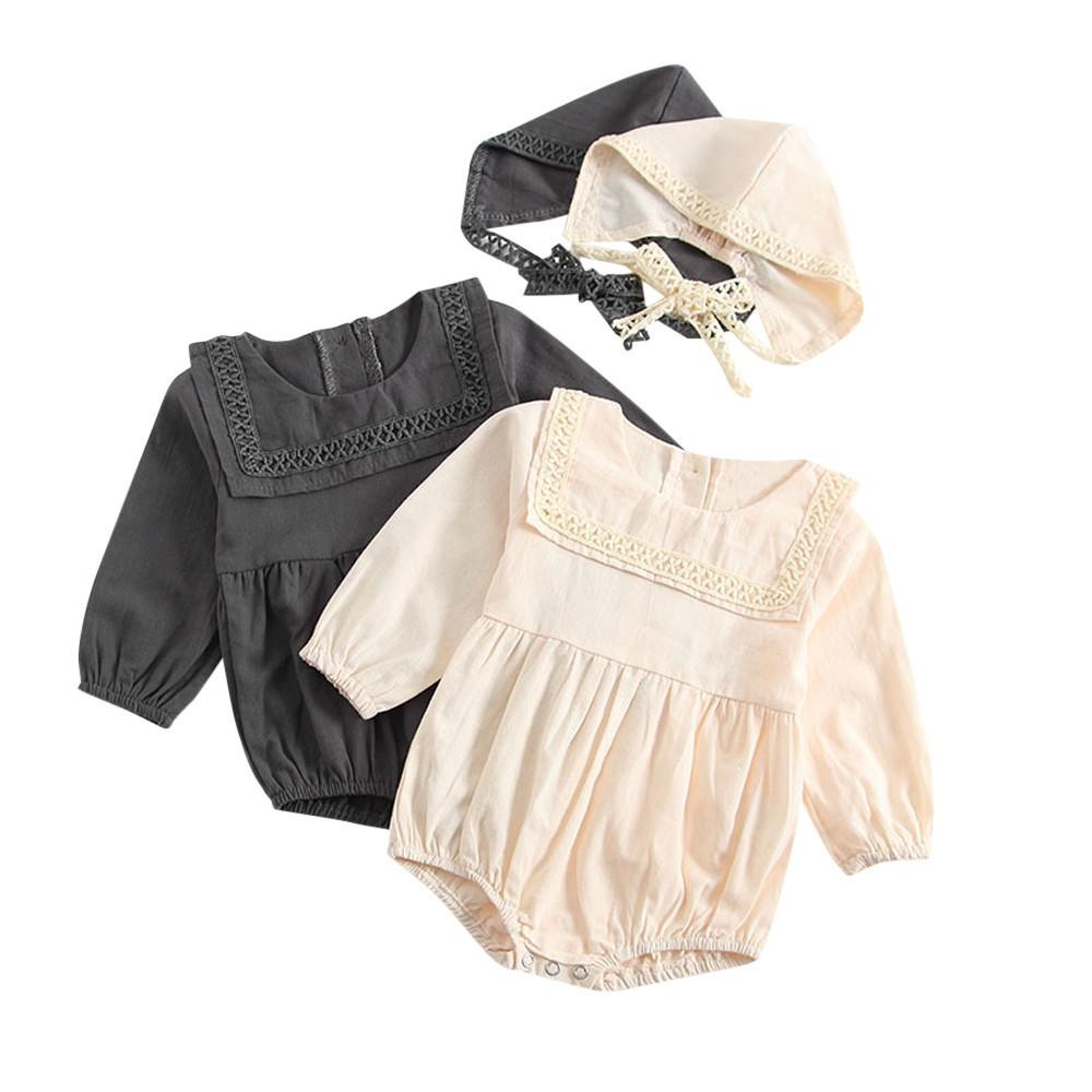 32d0f62db 2019 Good Quality Newborn Baby Boy Girl Lace Romper Bodysuit Hat Clothes  Outfits Set Winter Clothes For Baby Roupas Infantis Menina From Usefully12
