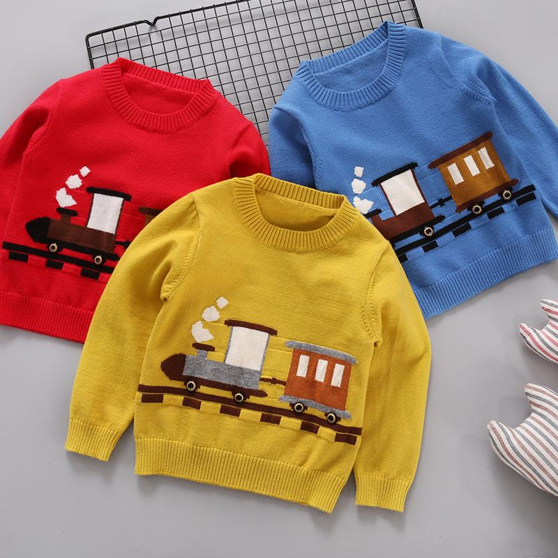 16de99ecab81 Good Quality 2019 Baby Boys Sweaters Kids Knitted Pullover Deer ...