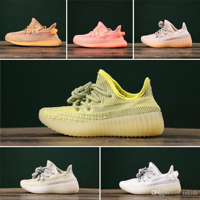 Adidas Yeezy 350 V2 Static TN kid Running moda Scarpe v2 Riflettente Static runner outdoor Scarpe da tennis taglia 28-35