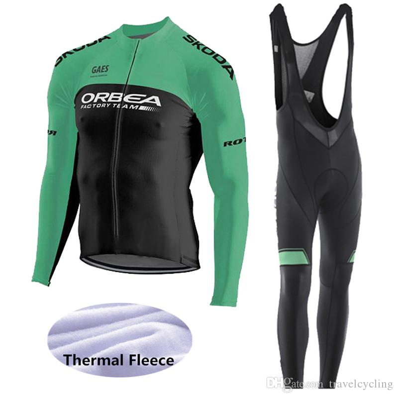 New High Quality 2019 Orbea Winter Thermal Fleece Cycling Jersey Suit Men S Long