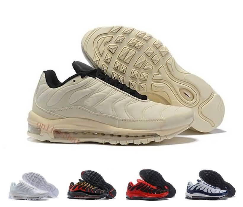 3c272776110d82 Cheap Designer 97 Plus Tn Tuned 1 Hybird Mens Running Shoes 97s Tns Cheap  White Balck Shock Sliver Trainers Sports Chaussure Sneakers 97 Tn Shoes  Running ...