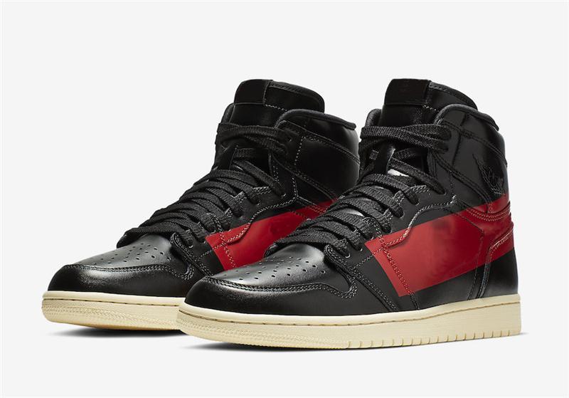 2019 Authentic Air High OG 1 Couture Defiant para hombre Zapatillas de baloncesto Gimnasio negro Muselina roja 1S BQ6682 006 Zapatillas deportivas con
