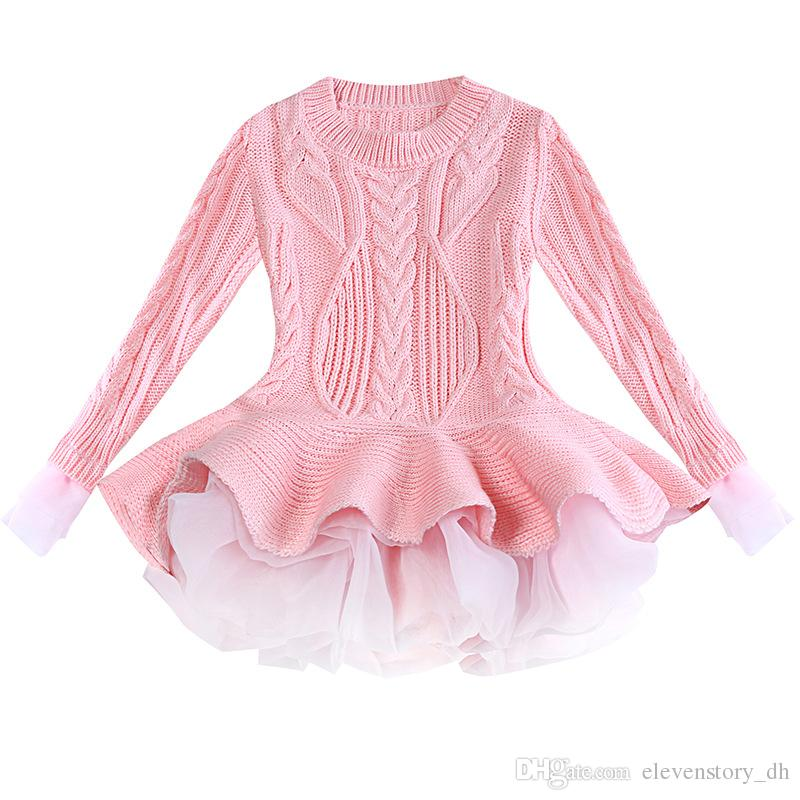 00777d6fc3 2019 3 To 7 Years Girls Fashion Sweater Dresses