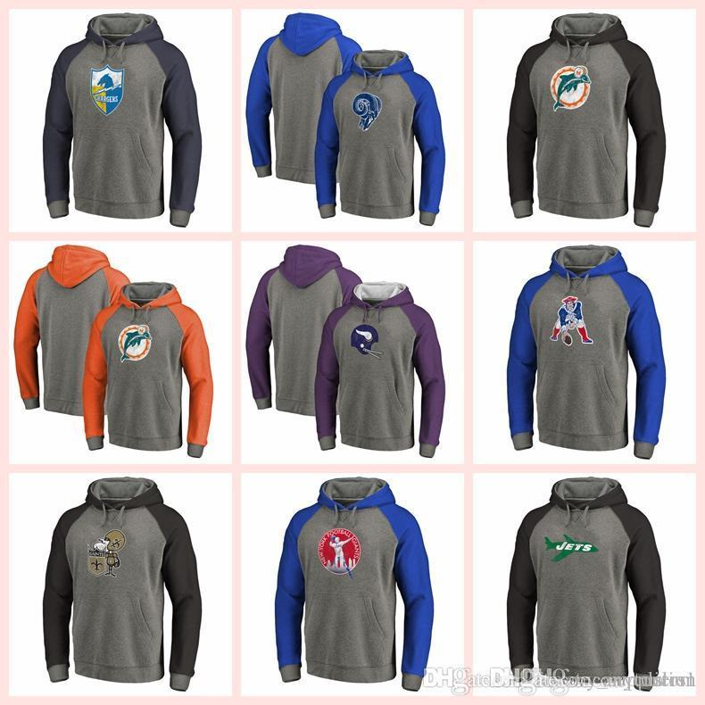 Men Sweatshirt Los Angeles Chargers Los Angeles Rams Dolphins ... 2d36b7f09