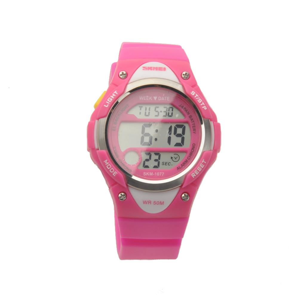 eabbee0d73 Young Girls Children Student Digital LED Quartz Watches Sports Waterproof  Water Resistant Silicone Band Wrist Watch Reloj