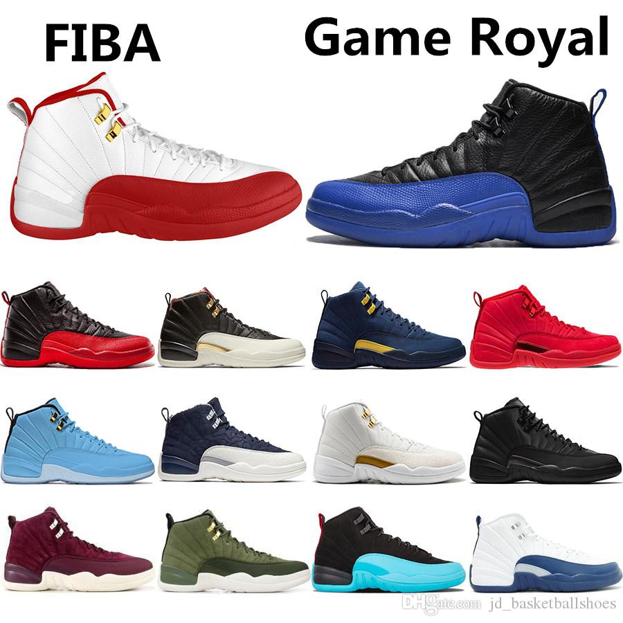 edf5c9be41771 2019 Cheaper New 12 Game Royal 12s FIBA Men Basketball Shoes CNY Michigan Gym  Red NYC Wool Bulls XII Mens Trainers Designer Sports Sneakers From ...
