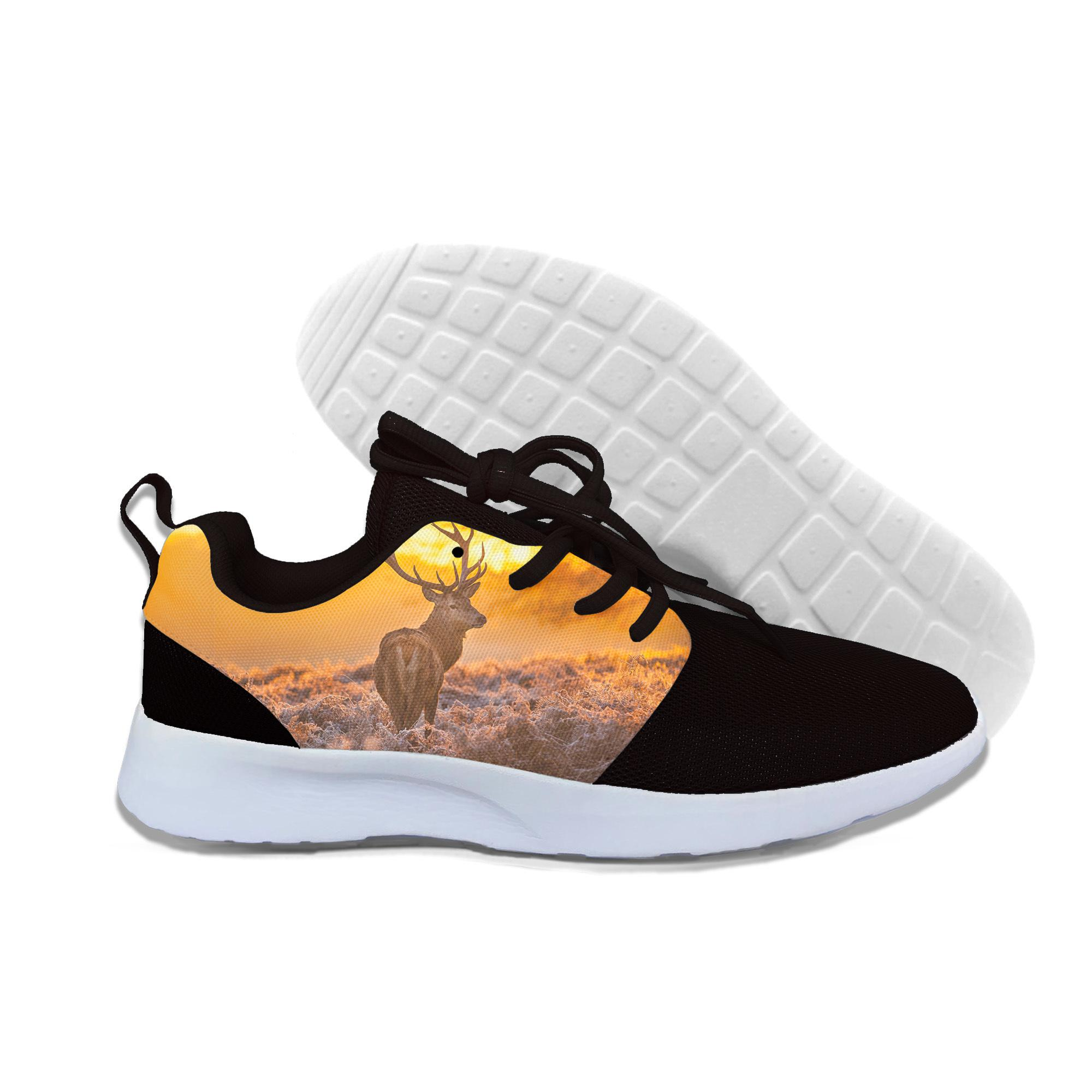 2019 Hot Fashion Forest Deer 3d Casual Shoes For Men/women High Quality Harajuku 3d Printing Forest Deer