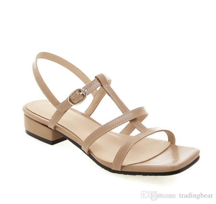42-46 rahat tarzı sarı mavi T askısı alçak topuklu sandalet lüks kadın tasarımcı slaytlar tradingbear için büyük küçük boyutlu 31