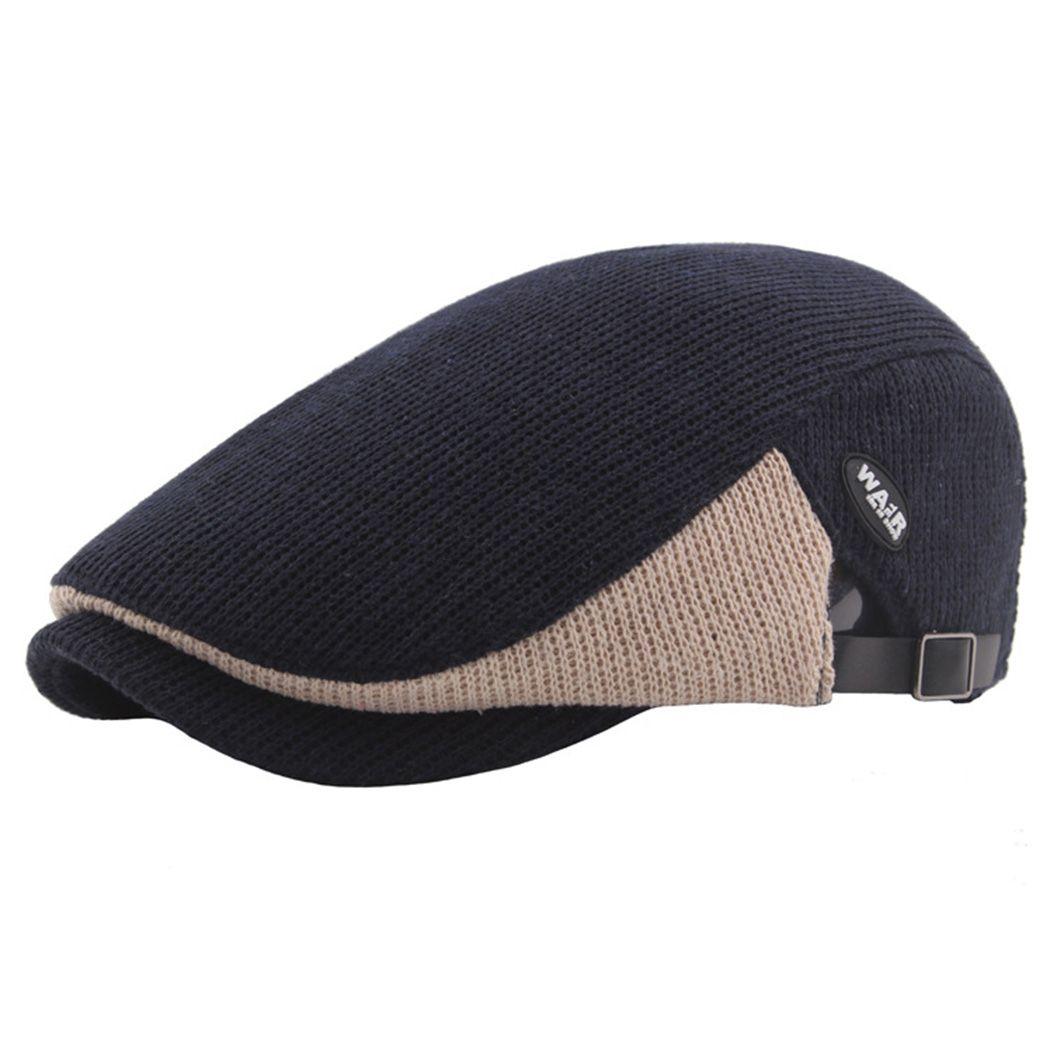 2019 Autumn Men Knitted Cap Hats Berets British Western Style Flat Ivy Cap  Women Winter Classic Vintage Beret Newsboy Gatsby New From Splendone 980e8bdb29d