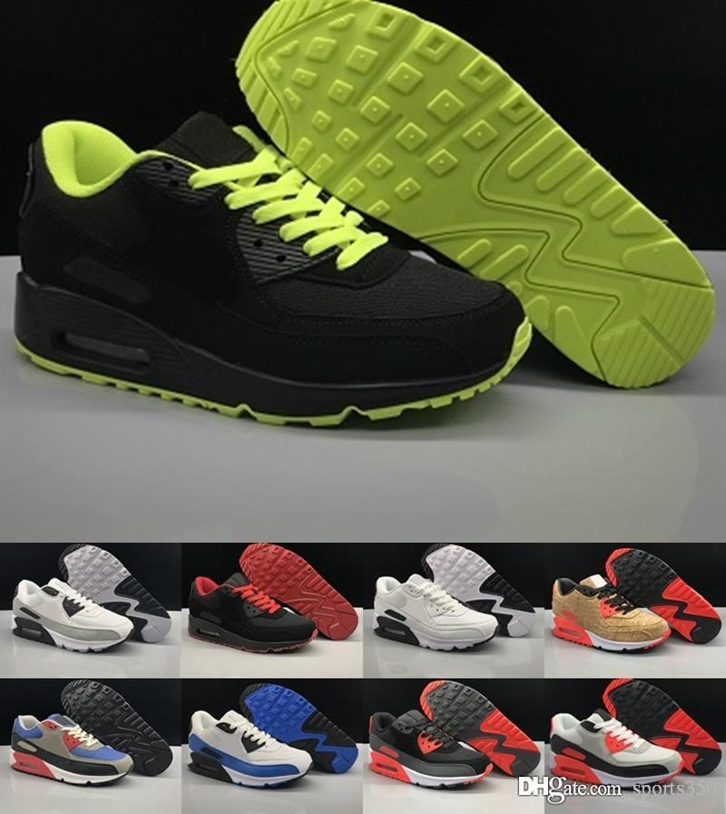 4c999bf5f6cd66 2018 Origina Air Mens 90 Sneakers Shoes Classic 90s Men Women ...
