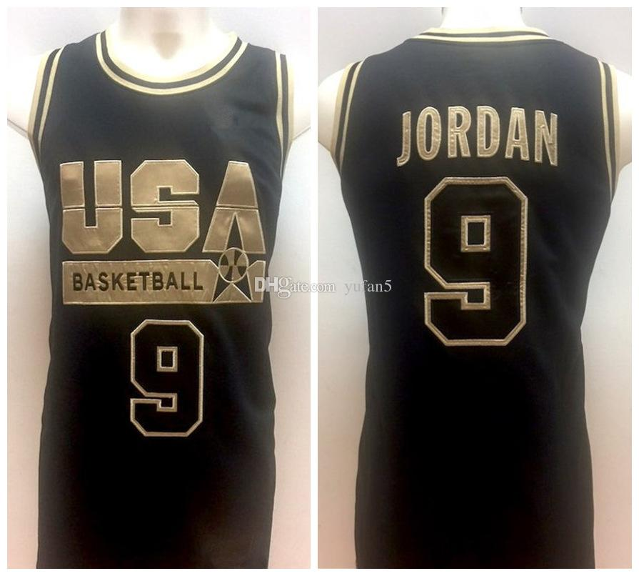 4ac160c9366  9 Michael MJ 1992 Olympic US Dream Team Retro Basketball Jersey Mens  Stitched Custom Any Number Name Jerseys MJ Basketball Jersey Online with   47.33 Piece ...