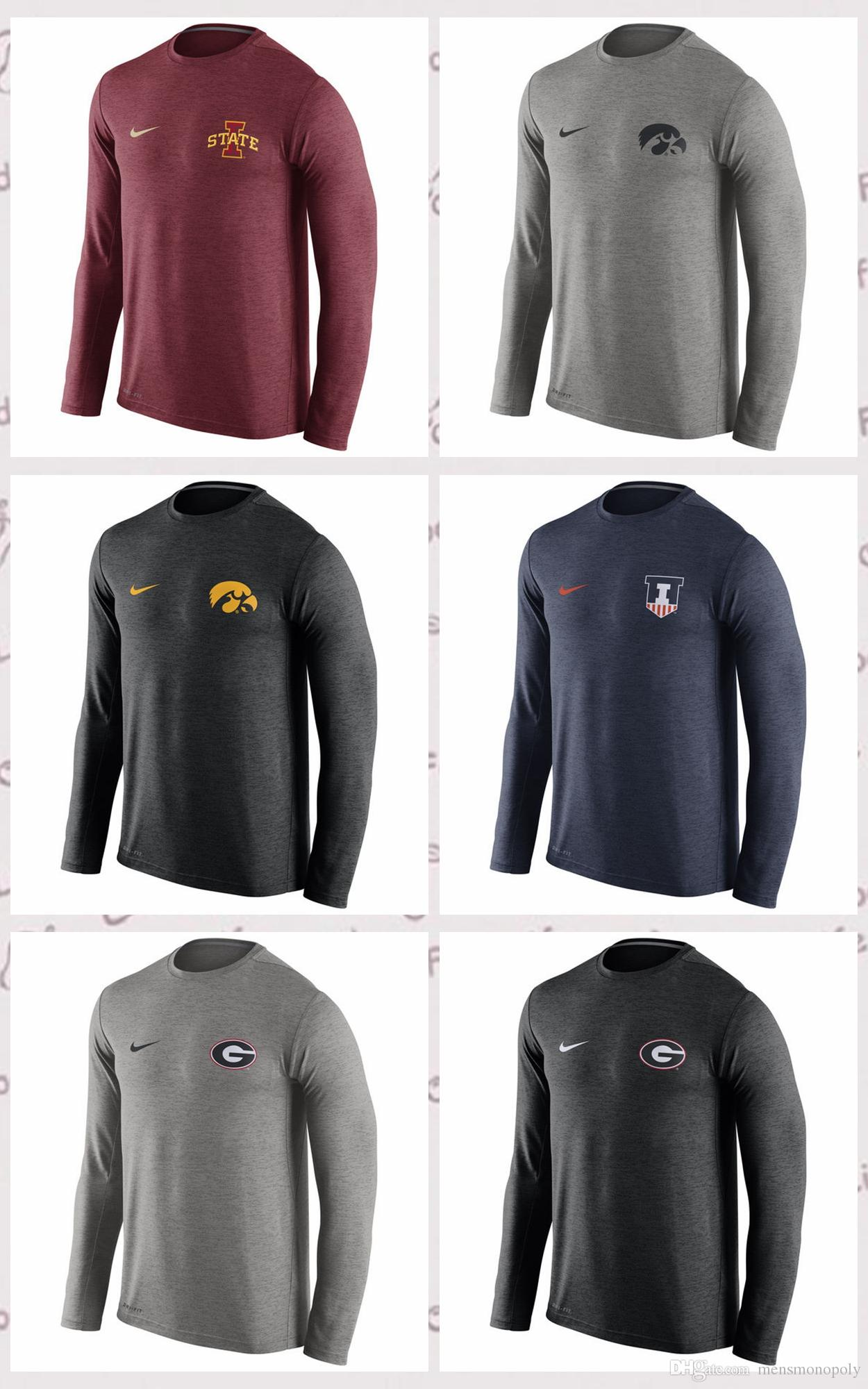 Iowa State Cyclones Georgia Bulldogs Iowa Hawkeyes Illinois Fighting Illini Stadium Touch Long Sleeve Top