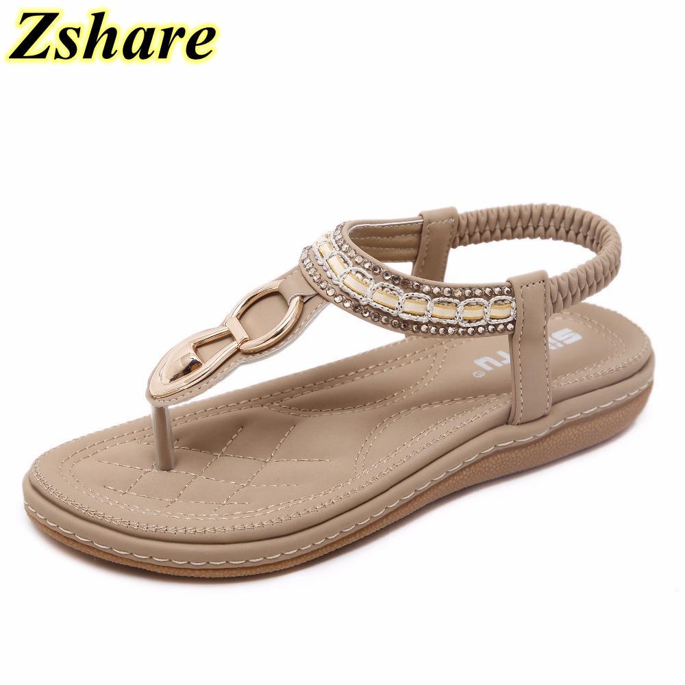 Clip Sandalias 2019 Zapatos Metal 42 Planas Mujer Mujeres Tamaño Para 35 Verano Casuales Nueva Decoración Toe Gran Bohemia Playa De n0Xwk8OP