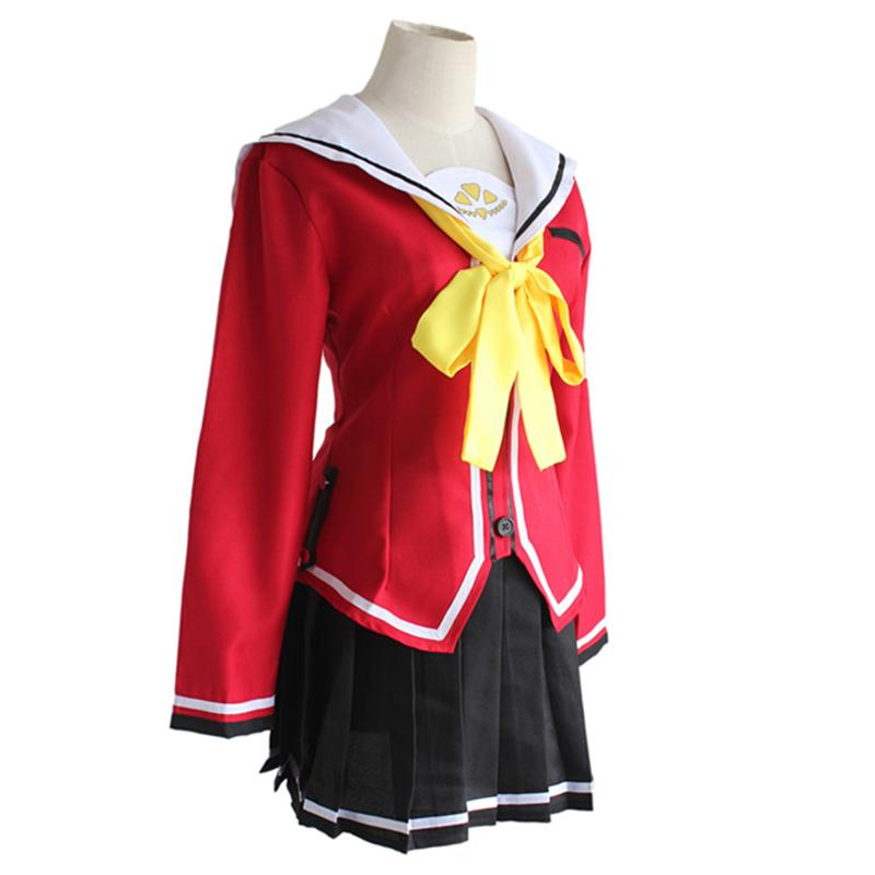 Back To Search Resultsnovelty & Special Use Charlotte Nao Tomori Women Girls School Uniform Red Lovely Coat Skirt Anime Cosplay Costume For Halloween Party Costumes & Accessories