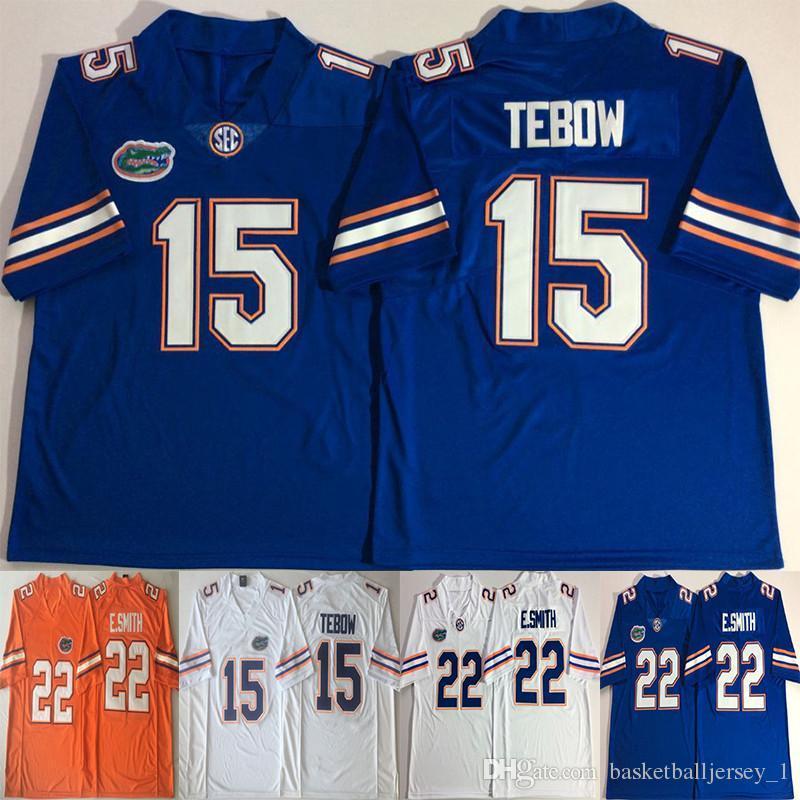 reputable site 9934c e59af NACC 15 Tim Tebow Jerseys 22 E.Smith Emmitt Smith 2018 College Florida  Gators Legendary Football Team Color Blue White Orange Jersey